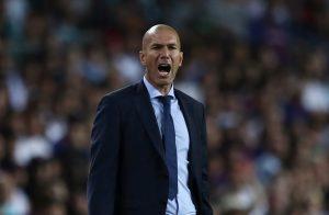 Real Madrid coach Zinedine Zidane.