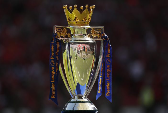 The Premier League trophy,