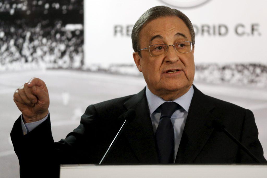 Real Madrid's President Florentino Perez.