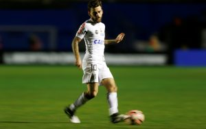 Lucas Lima of Santos in action.