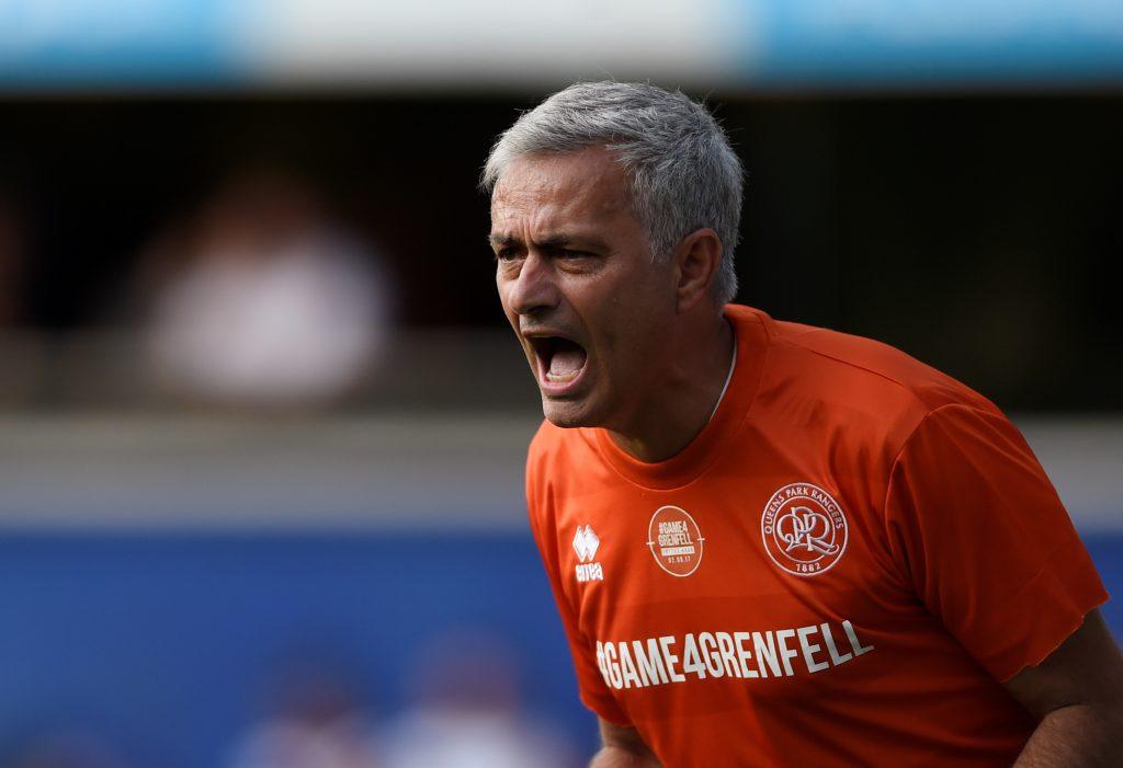 Jose Mourinho reacts.