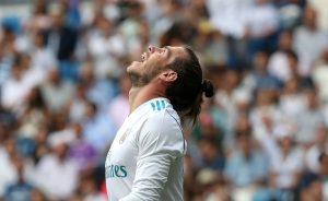 Gareth Bale looks dejected.