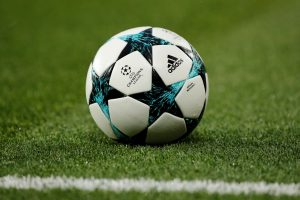 General view of the Champions League match ball.
