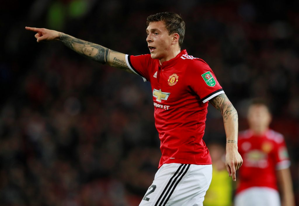 "Soccer Football - Carabao Cup Third Round - Manchester United vs Burton Albion - Old Trafford, Manchester, Britain - September 20, 2017   Manchester United's Victor Lindelof    Action Images via Reuters/Jason Cairnduff    EDITORIAL USE ONLY. No use with unauthorized audio, video, data, fixture lists, club/league logos or ""live"" services. Online in-match use limited to 75 images, no video emulation. No use in betting, games or single club/league/player publications. Please contact your account representative for further details. - RC113F35DB00"