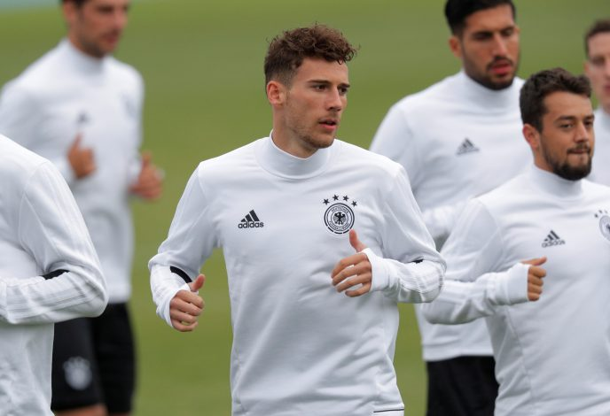 Germany's Leon Goretzka during training.
