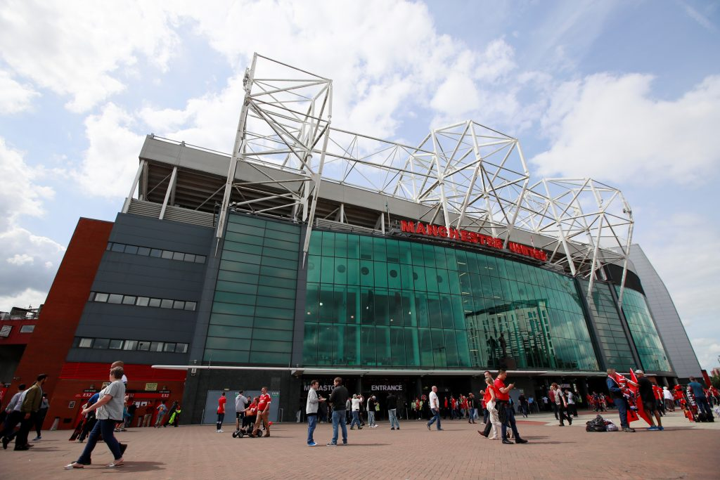 General view of Old Trafford before the match.
