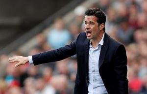 Watford manager Marco Silva gestures.