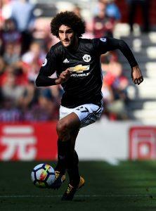 Manchester United's Marouane Fellaini in action.