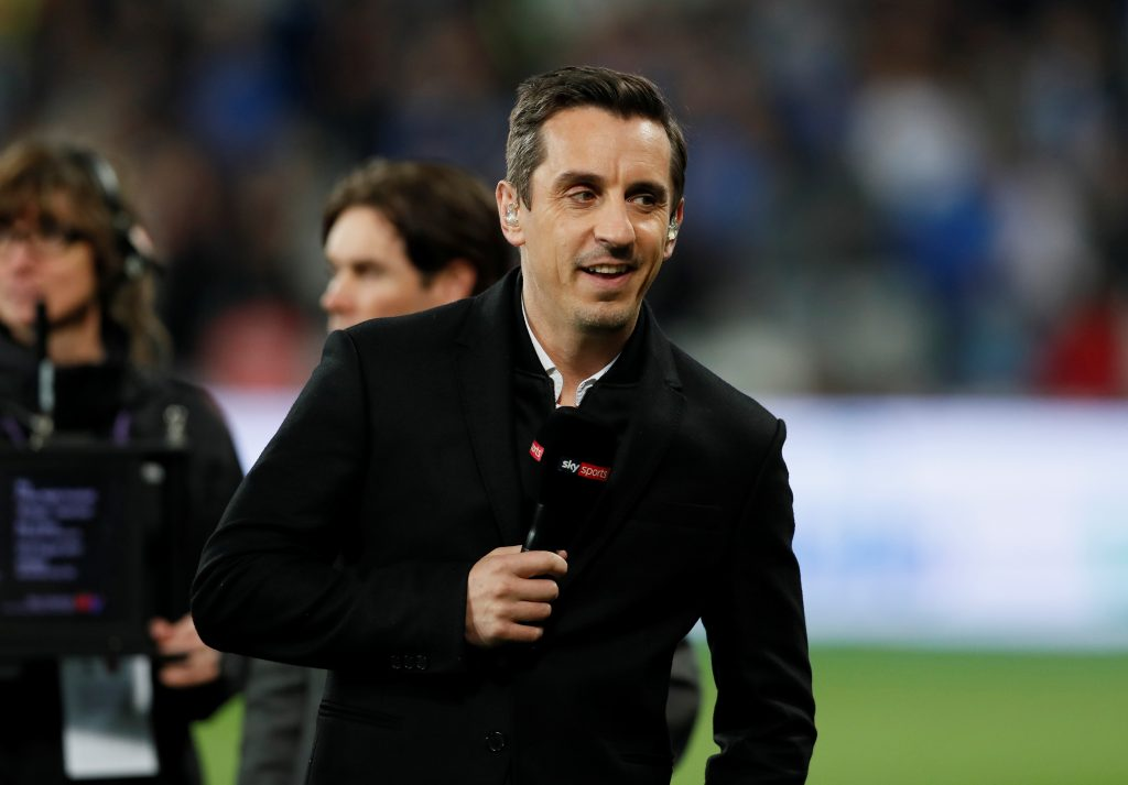 Gary Neville before the match.