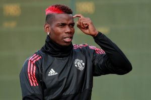 Paul Pogba during training.