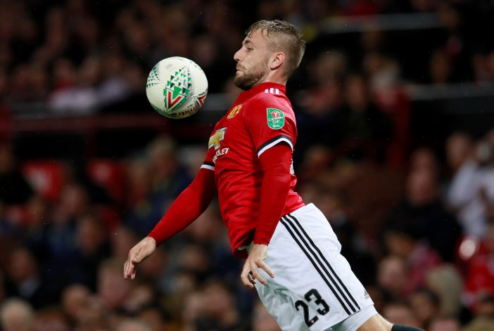 Manchester United's Luke Shaw in action.