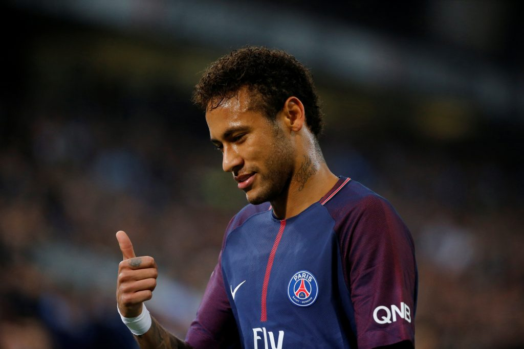 Paris Saint-Germain's Neymar.