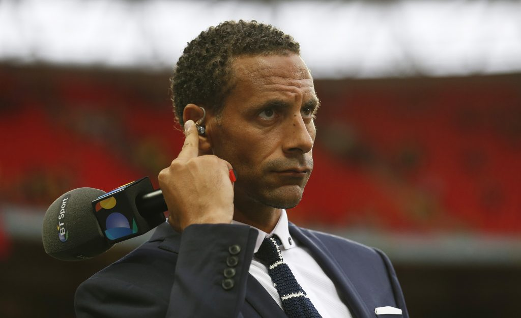BT Sport's pundit and former footballer Rio Ferdinand.