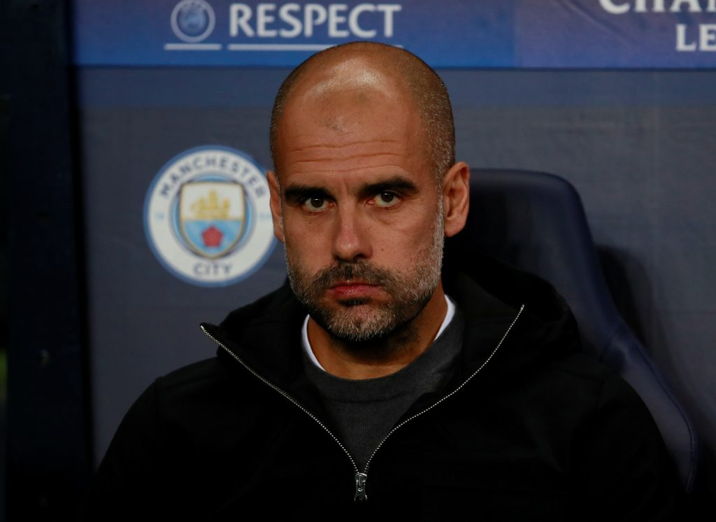 Man City manager Pep Guardiola before the match.