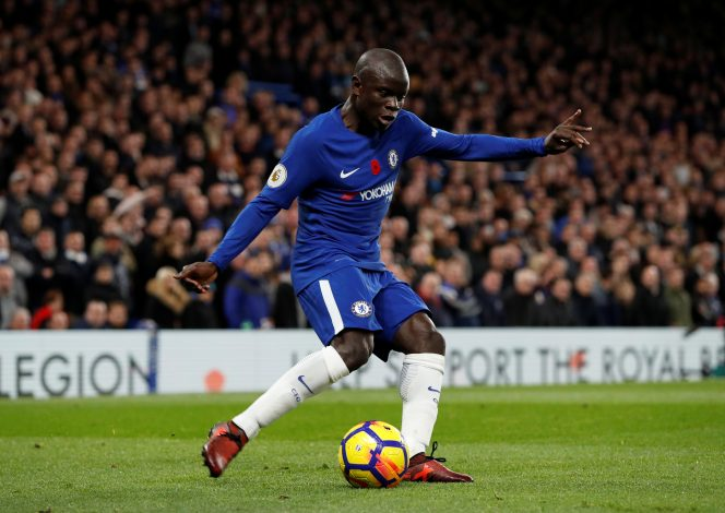 Chelsea's N'Golo Kante in action.