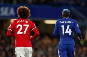 Marouane Fellaini and Tiemoue Bakayoko.