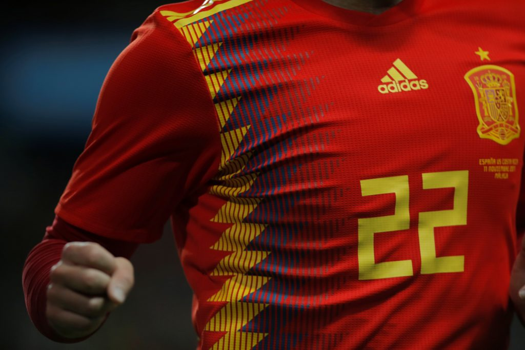 General view of the shirt of Spain's Isco.