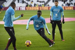 West Ham United's Domingos Quina during the warm up wearing t-shirts in support of Richard House, a children's hospice and charity.