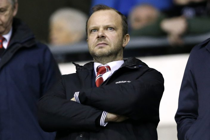 Manchester United executive vice chairman Ed Woodward before the match.