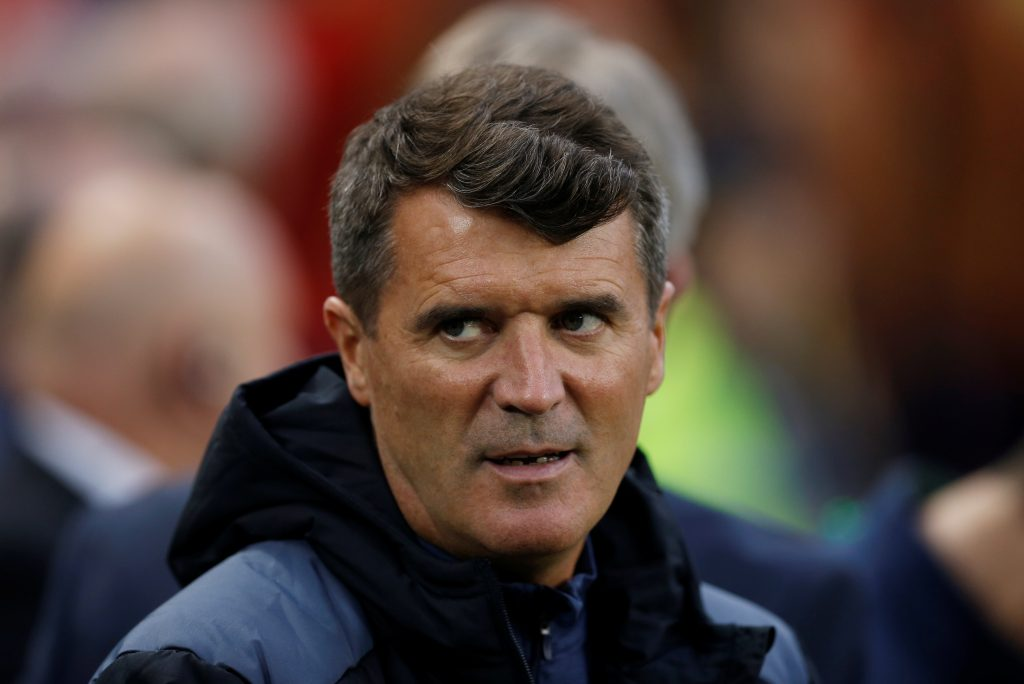Republic of Ireland assistant manager Roy Keane before the match.
