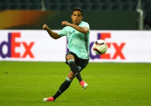 Ajax's Justin Kluivert during training.