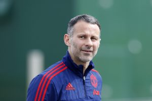 Ryan Giggs during training.