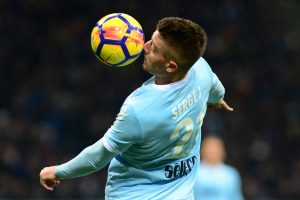Lazio's Sergej Milinkovic-Savic in action.