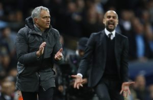 Pep Guardiola and Jose Mourinho.