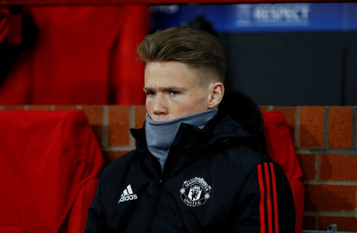 Scott McTominay before the match.