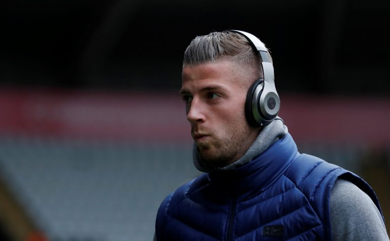 Tottenham's Toby Alderweireld before the match.