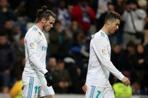 Real Madrid's Gareth Bale and Cristiano Ronaldo.