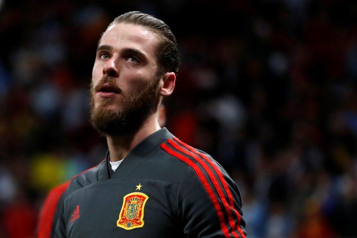 Spain's David De Gea before the match.
