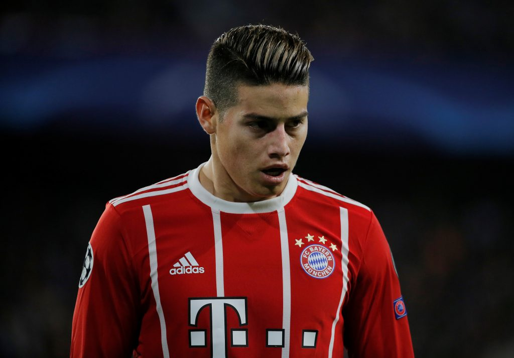 Bayern Munich's James Rodriguez.