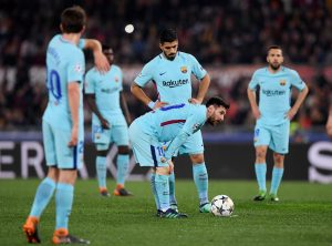 Barcelona's Lionel Messi prepares to take a free kick.