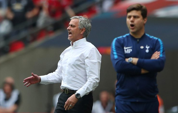 Jose Mourinho and Mauricio Pochettino react.
