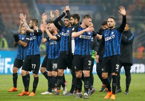 Inter Milan players after the match.