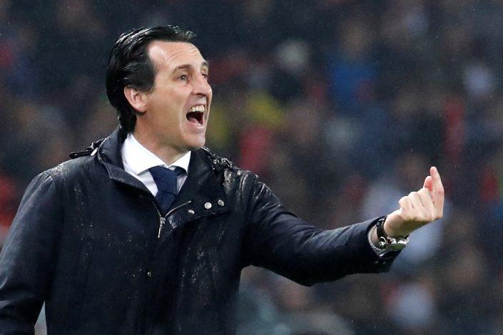 Paris Saint-Germain coach Unai Emery.