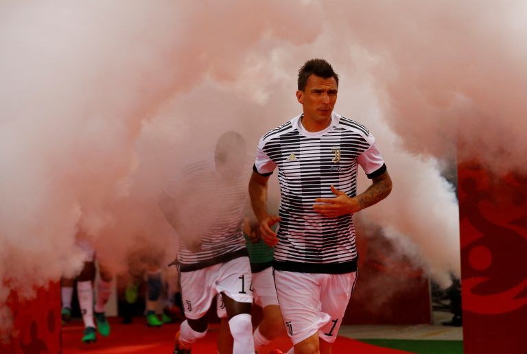 Juventus' Mario Mandzukic before the match.