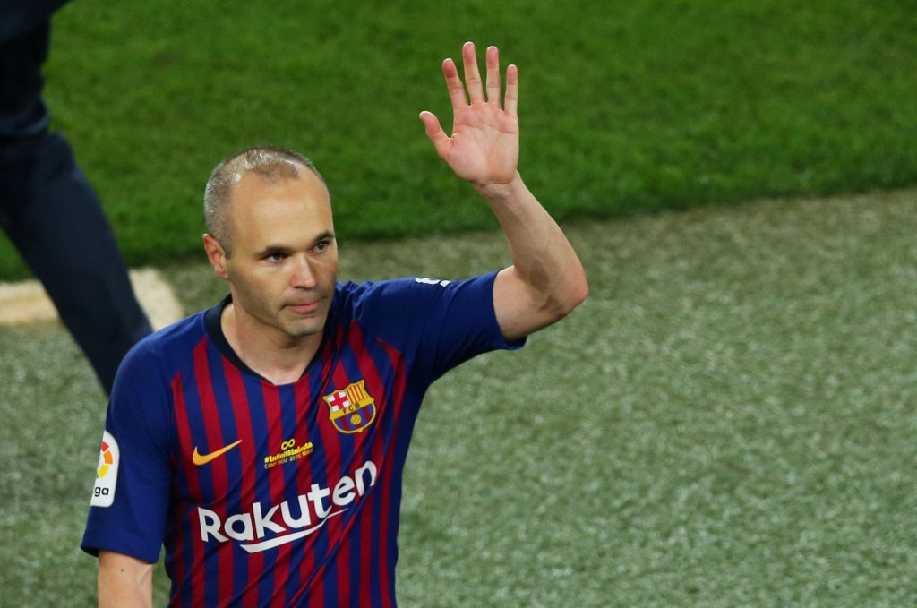 Barcelona's Andres Iniesta after the match.