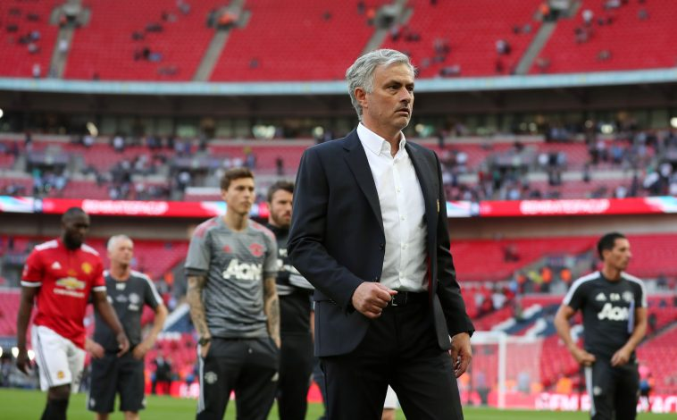 Manchester United manager Jose Mourinho at the end of the match.
