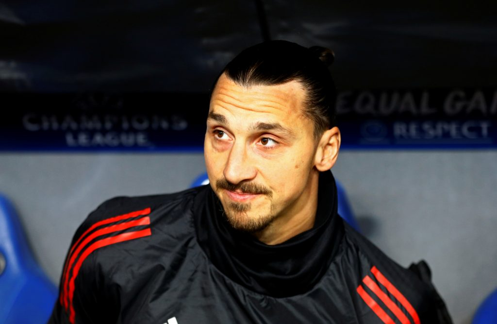 Manchester United's Zlatan Ibrahimovic before the match.