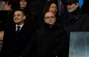 Tottenham chariman Daniel Levy in the stands before the match.