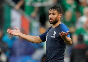 France's Nabil Fekir reacts.