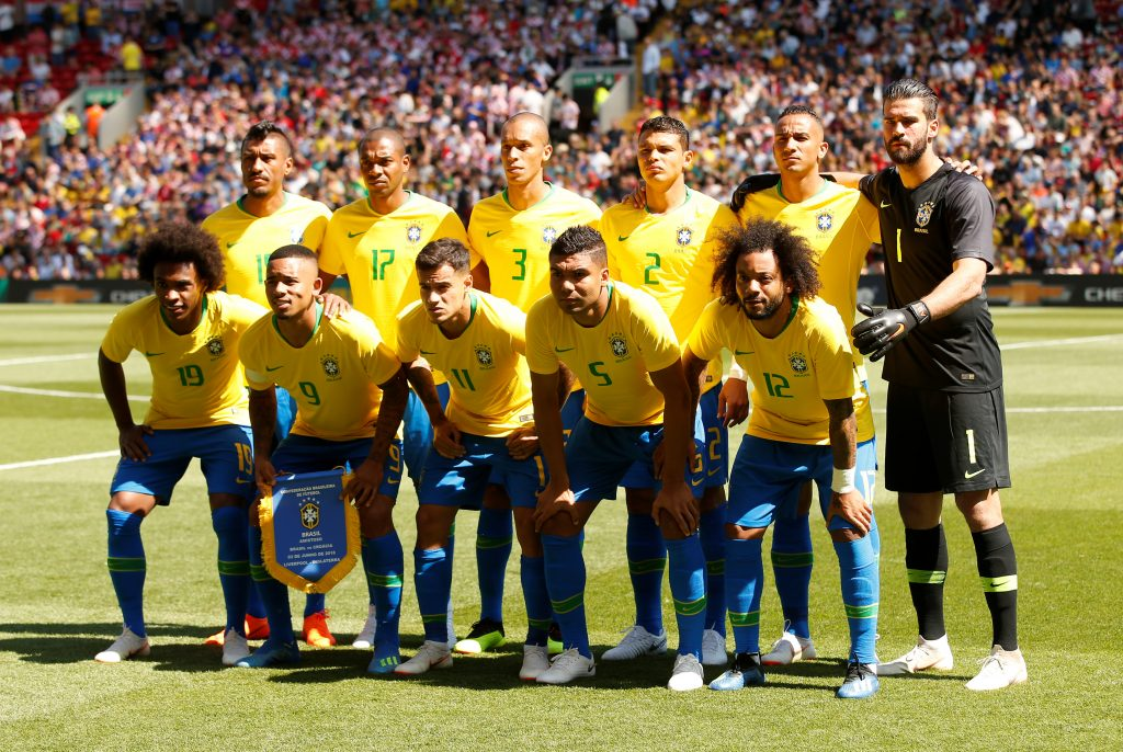 Brazil team group.