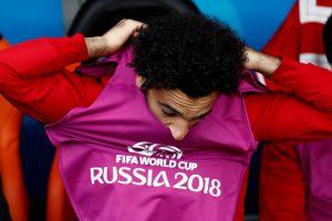 Egypt's Mohamed Salah before the match.