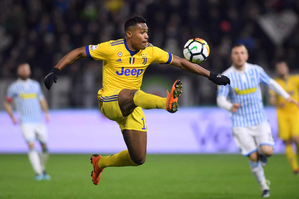Juventus' Alex Sandro in action.