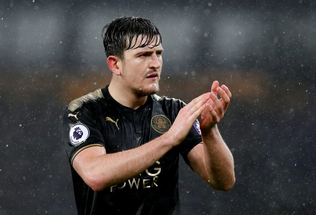 Leicester City's Harry Maguire looks dejected after the match.