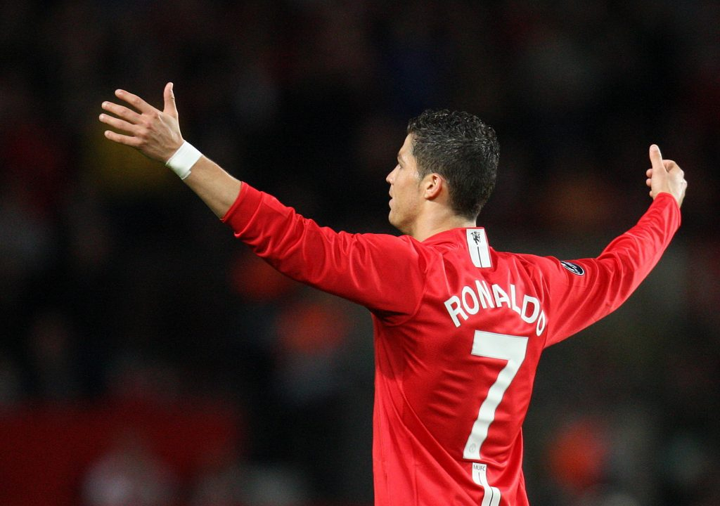 Cristiano Ronaldo - Manchester United reacts during the game.