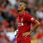 Liverpool's Fabinho prepares to take a penalty.