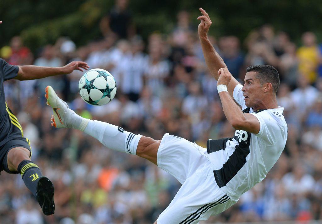 Soccer Football - Pre Season Friendly - Juventus A v Juventus B - Villar Perosa Training Centre, Turin, Italy - August 12, 2018    Juventus' Cristiano Ronaldo in action    REUTERS/Massimo Pinca - RC1E797CA0D0